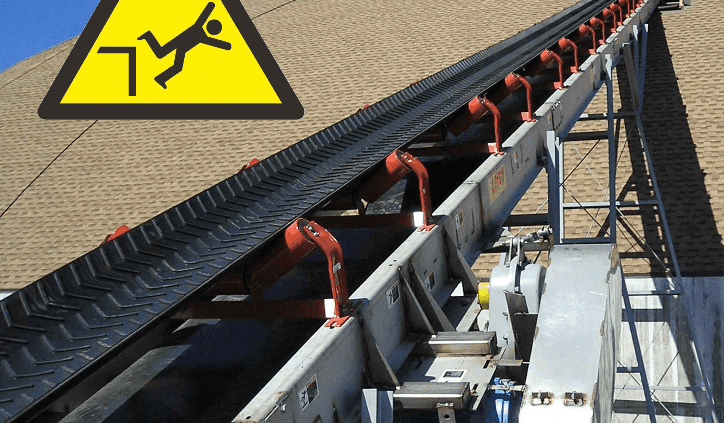 Lincolnshire workers suffers injuries falling from a sloping conveyor min