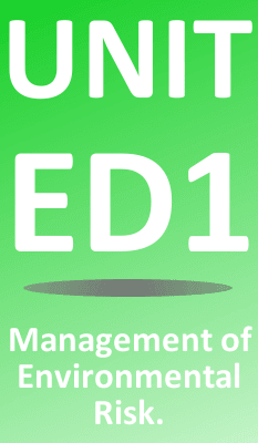 Unit ED1 Application of Environmental Risk Theory & Practice