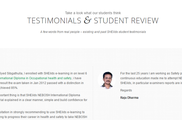 Testimonials Student Review