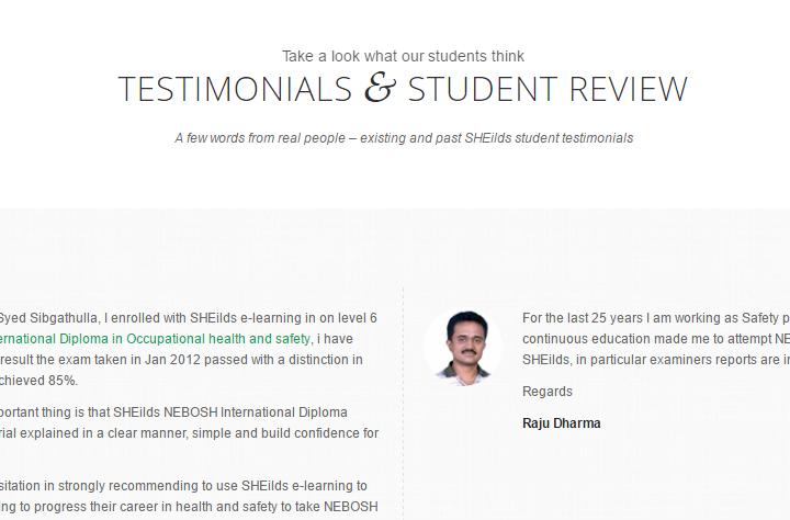 Testimonials Student Review