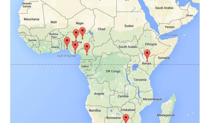 African NEBOSH exam locations