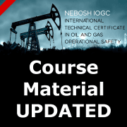 NEBOSH international oil gas course updates