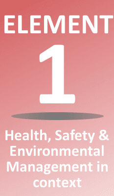 Element 1 Health, Safety and Environmental Management