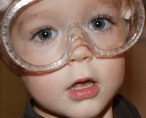 kids must wear goggles to play conkers