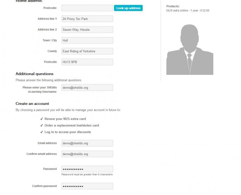 Register for NUS membership step 7