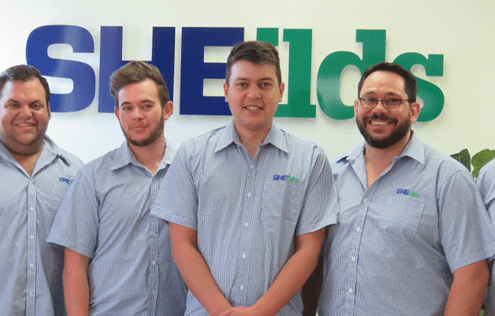 SHEilds South Africa Team in new office