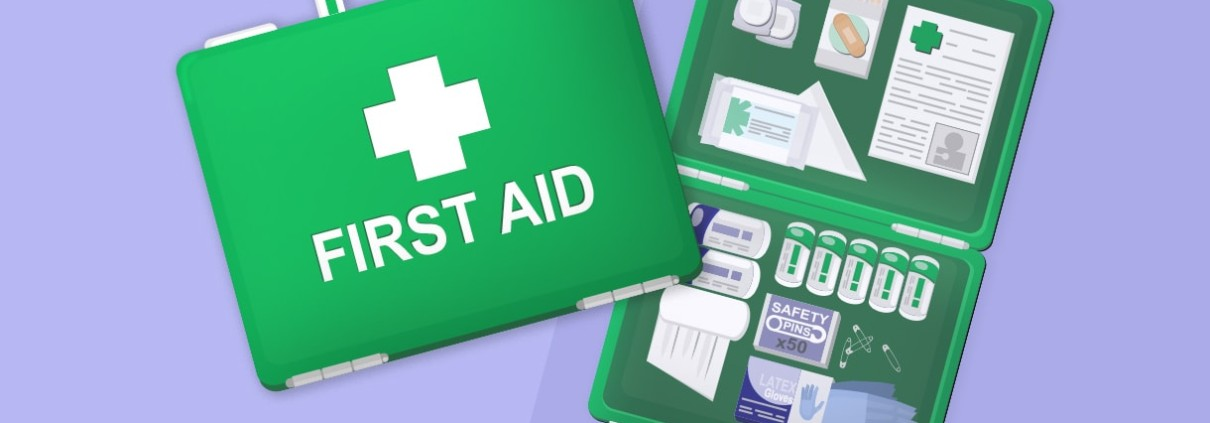 What is in your first aid box? image