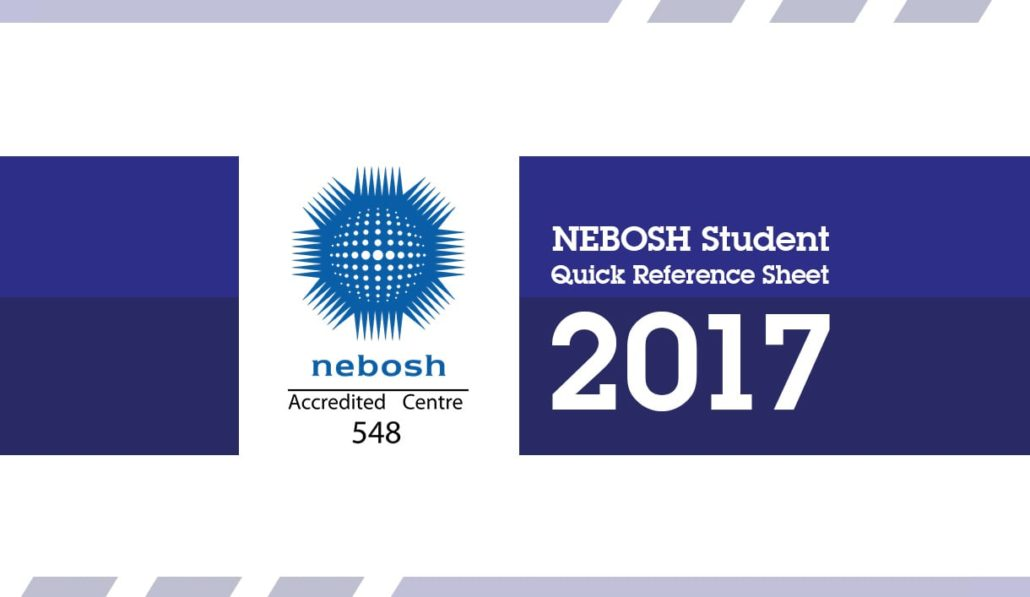 NEBOSH Reference Sheet Students Quick Guide