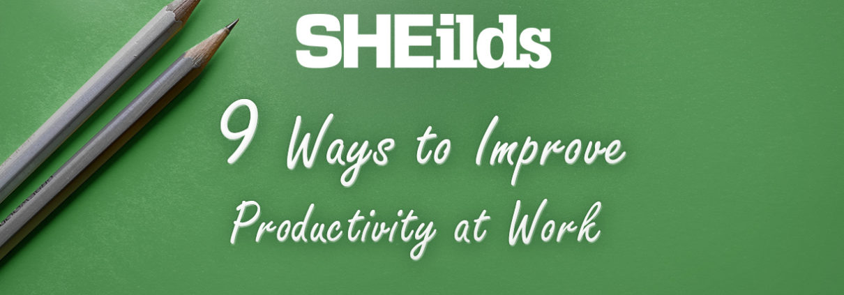 Ways to improve productivity at work